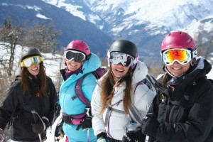 We love skiing
