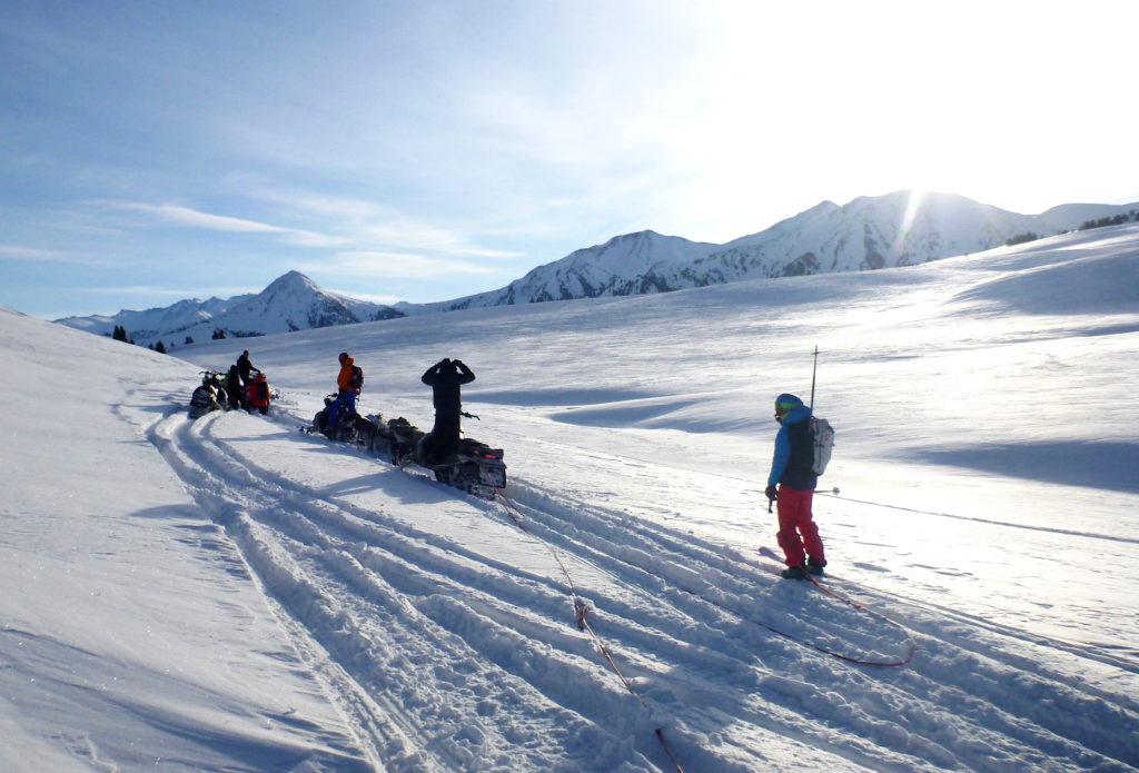 Towed skiing kyrgyzstan snowmobiles skidoos