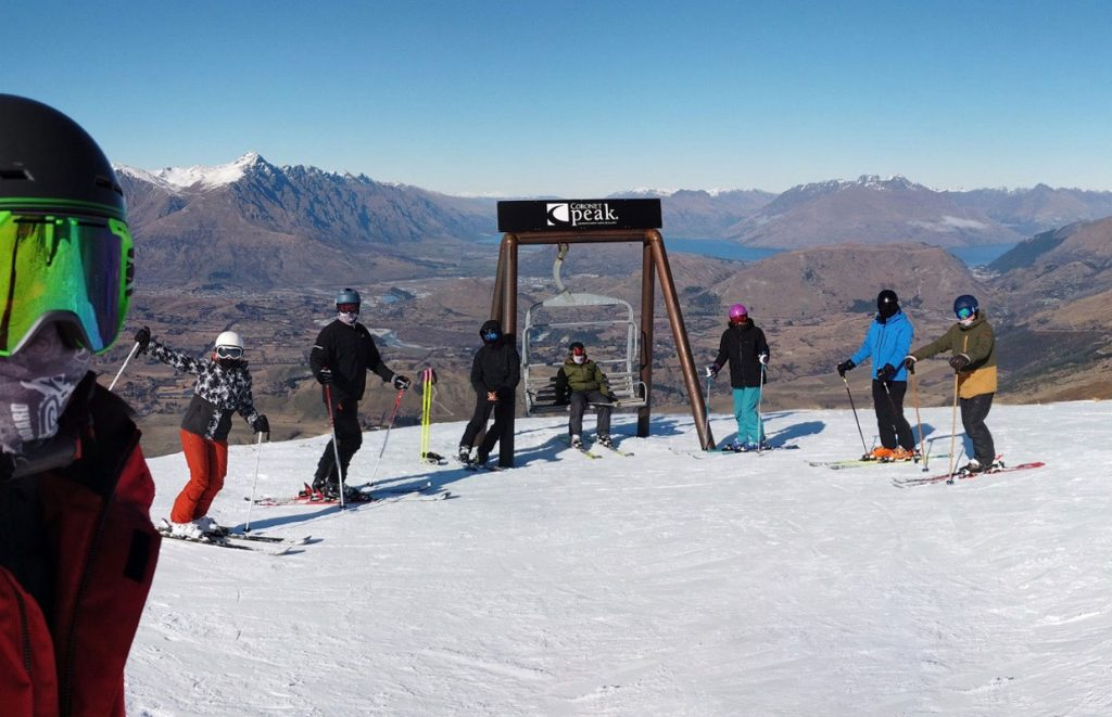 Aprt but to getting while skiing, view from Coronet Peak