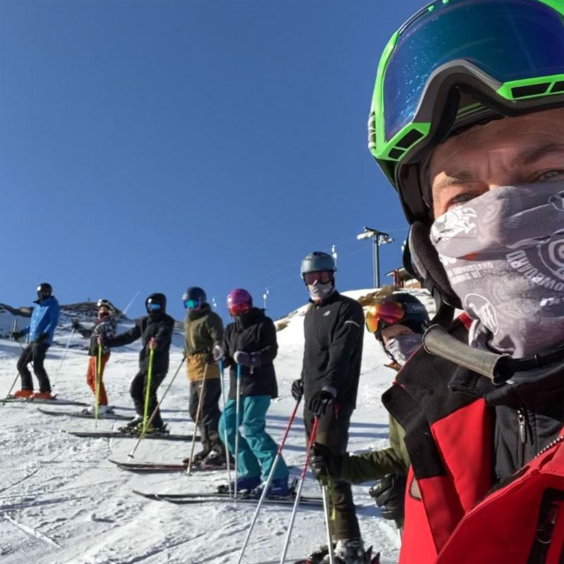 Ski Coaching in a Mask